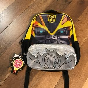 Kids Transformer Bumblebee Motion Lights Backpack